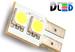 Светодиодная автолампа W5W T10 - 2 SMD5050 Односторонняя 0,48Вт (Белый)
