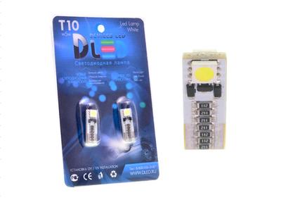 Светодиодная автолампа W5W T10 - 2 SMD5050 + Обманка 0,48Вт (Белый)
