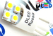 Светодиодная автолампа W5W T10 - 4 SMD3528 Односторонняя 1,92Вт (Белый)