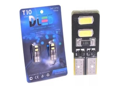 Светодиодная автолампа W5W T10 - 4 SMD5630 Двусторонняя + Обманка 1,6Bт (Белый)