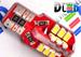 Светодиодная автолампа W5W T10 - 24 SMD1210 Red + Обманка 1,6Вт (Белый)