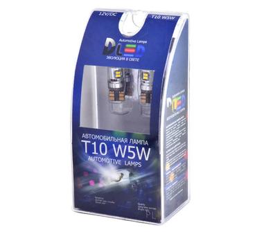 Светодиодная автолампа W5W T10 - 10 SMD3014 + Обманка 1Вт (Белый)
