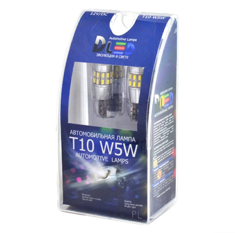 Светодиодная автолампа W5W T10 - 30 SMD3014 + Обманка 3Вт (Белый)