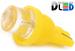 Светодиодная автолампа W5W T10 - 1 DIP Цилиндр 0,1Вт (Жёлтая)