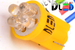 Светодиодная автолампа W5W T10 - 4 DIP 0,2Вт (Жёлтая)