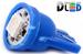 Светодиодная автолампа W5W T10 - 1 SMD5050 0,24Вт (Синяя)