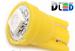 Светодиодная автолампа W5W T10 - 1 SMD5050 0,24Вт (Жёлтая)