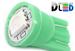 Светодиодная автолампа W5W T10 - 1 SMD5050 0,24Вт (Зелёная)