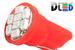 Светодиодная автолампа W5W T10 - 8 SMD1210 0,4Вт (Красная)