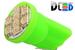 Светодиодная автолампа W5W T10 - 8 SMD1210 0,4Вт (Зелёная)