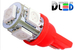Светодиодная автолампа W5W T10 - 5 SMD5050 1,2Вт (Красная)