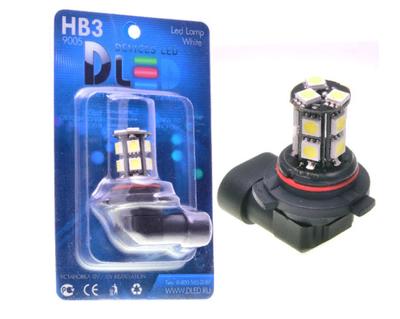 Светодиодная автолампа HB3 9005 - 13 SMD5050 Black 3,12Вт