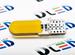 Светодиодная автолампа W5W T10 - 1 COB PCB 1Вт (Жёлтая)