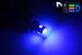 Светодиодная автолампа W5W T10 - 1 HP + 3 mini HP 2,5Вт (Синяя)