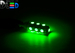 Светодиодная автолампа W5W T10 - 13 SMD5050 3,12Вт (Зелёная)
