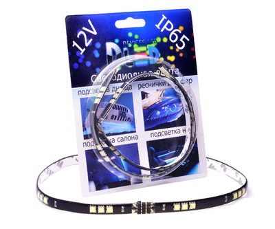 Светодиодная лента для авто - 15 SMD5050 300мм 3,6Вт (Синяя)