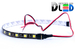 Светодиодная лента для авто - 18 SMD5050 300мм 4,32Вт (Зелёная)