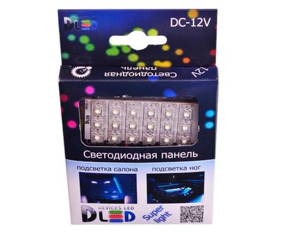 Панель освещения салона - 18 Led Super-Flux 1,8Вт (Белая)