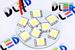 Панель освещения салона - 9 Led SMD5050 Круг 2,16Вт (Белая)