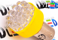 Светодиодная автолампа P21W 1156 - 12 Dip-Led 0,6Вт (Жёлтая)