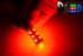 Светодиодная автолампа P21W 1156 - 18 SMD5050 4,32Вт (Красная)