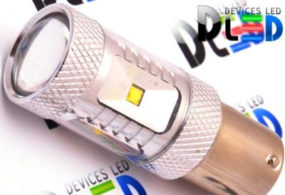 Светодиодная автолампа P21W 1156 - 6 CREE XB Линза 30Вт (Белая)