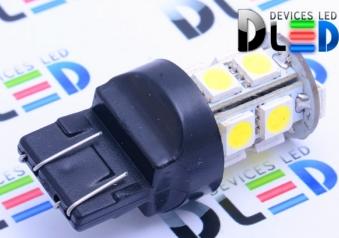 Светодиодная автолампа W21/5W 7443 -13 SMD5050 Black 3,12Вт (Белая)