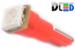 Автомобильная лампа T5 W1,2W - 1 SMD 5050  0,24Вт (Красная)