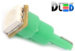 Автомобильная лампа T5 W1,2W - 1 SMD 5050  0,24Вт (Зелёная)