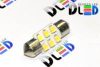 Салонная лампа C5W FEST 31мм - 6 SMD3528 0,48Вт (Белая)
