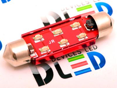 Салонная лампа C10W FEST 41мм - 6 SMD5050 3Вт (Белый)