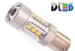 Светодиодная автолампа P21W 1156 - 12 Epistar HP + 4 CREE Линза 80Вт (Белая)