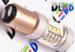 Светодиодная автолампа P21/5W 1157 - 12 SMD2323 + 2 CREE XB Линза 22Вт (Белая)