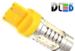 Светодиодная автолампа W21/5W 7443 - 4 HP Линза 6Вт (Жёлтая)