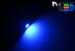 Автомобильная лампа T5 W1,2W - 1 SMD 5050  0,24Вт (Синяя)