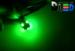 Светодиодная автолампа T4W BA9S - 5 5050SMD 1,2Вт (Зеленая)