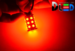 Светодиодная автолампа P21W 1156 - 13 Super-Flux 1,3Вт (Красная)