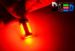 Светодиодная автолампа P21W 1156 - 4 HP 6Вт (Красная)