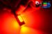 Светодиодная автолампа P21W 1156 - 4 HP Линза 6Вт (Красная)