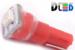 Автомобильная лампа T5 W1,2W - 1 SMD 3528  0,15Вт (Красная)